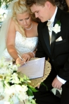 Laura and Ben signing register